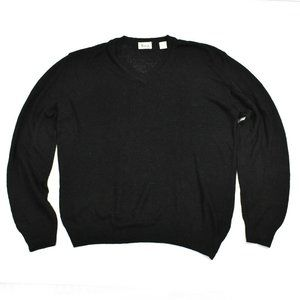 HARRODS Men's Sweater Sz L Black Knit ITALY VTG
